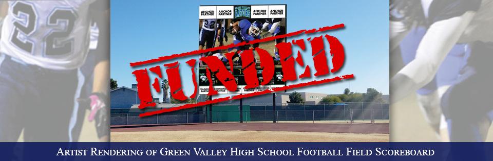Green Valley High School's Football Field Scoreboard